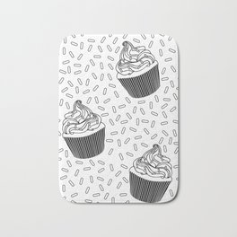 Coloring Book Cupcakes and Sprinkles Bath Mat
