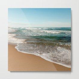 My Serenity Beach With Ocean Waters to Eternity Metal Print