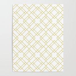 Simply Mod Diamond in Mod Yellow Poster