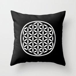 Flower of Life Yin Yang Throw Pillow
