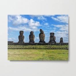 Moai Afternoon Metal Print