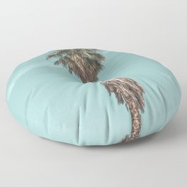Malibu Beach Palm // California Beach Vibes Teal Ocean Sky Jetstream Photograph Floor Pillow