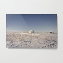Winter, Galpin Church, Montana 3 Metal Print