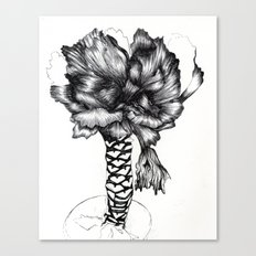 Graphic Cabbage Floral Canvas Print