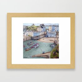 Tenby Harbour Framed Art Print