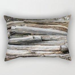 Hand Cut Lumber From Dismantled Log Barn 2 Rectangular Pillow