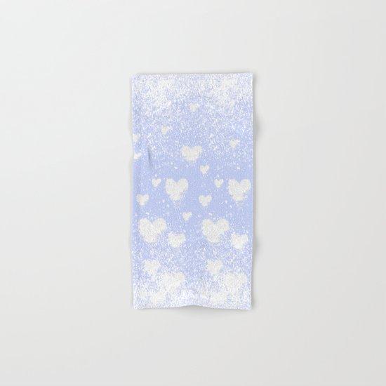 snowing hearts Hand & Bath Towel