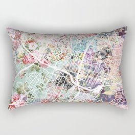 Austin map - Portrait Rectangular Pillow