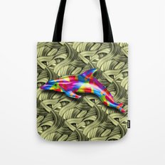 DOLPHIN COLORS 3D Tote Bag
