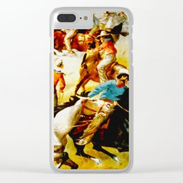 Vintage Wild West Show Poster Clear iPhone Case