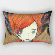 Girl on Fire Rectangular Pillow