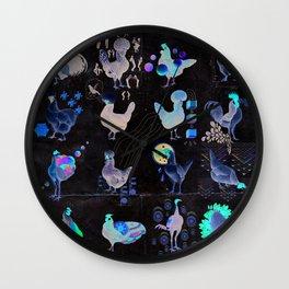 Defenseless Chickens Wall Clock
