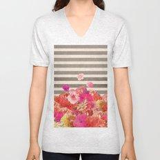 Vintage Floraline Unisex V-Neck