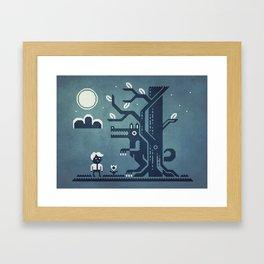Midnight Menace Framed Art Print