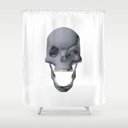 3D Skull Hell Yeah Shower Curtain