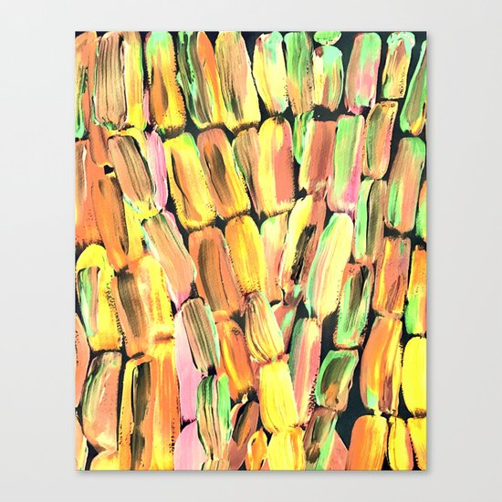 Golden Sweet Yellow Sugarcane Canvas Print