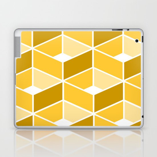 Simple Pattern Yellow Laptop & iPad Skin