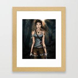 Lara Croft Tomb Raider Illustration Framed Art Print