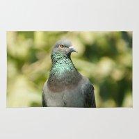 pigeon Area & Throw Rugs featuring Pigeon by Vishal Wadhwani