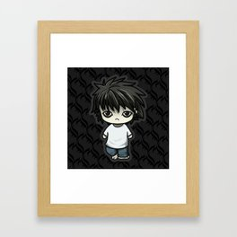 Death Note L Framed Art Print