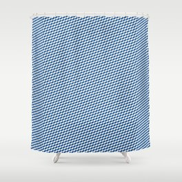 Baby Sharkstooth Sharks Pattern Repeat in White and Blue Shower Curtain