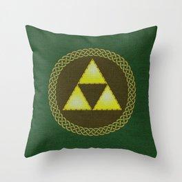 Celtic Triforce Throw Pillow