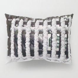 White snow picket fence  Pillow Sham