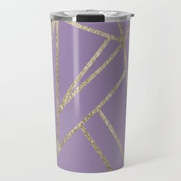 Classic Lavender Gold Geo #1 #geometric #decor #art #society6 Travel Mug