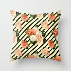 Chrysanthemum Rain Throw Pillow