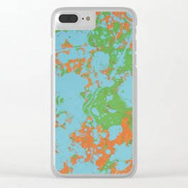 Splatter Paint Clear iPhone Case