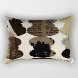 Typography abstract, sepia art, modern mid century, Graphic art, neutral colors, geometric art, circ Rectangular Pillow