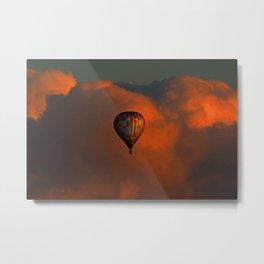 Balloon flight at sunset Metal Print