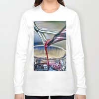 wine Long Sleeve T-shirts featuring red wine by  Agostino Lo Coco