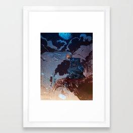Eve on Roof Framed Art Print