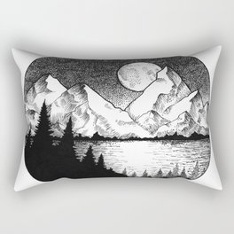 Moonlit Alaska Rectangular Pillow