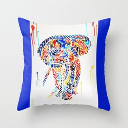Radiant Elephant Throw Pillow