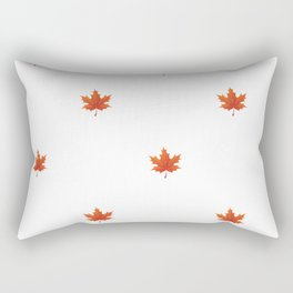 Minimalist Orange Maple Leaf Pattern - Fall Fun Rectangular Pillow