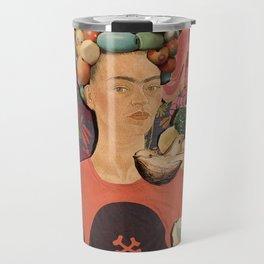Frida Collage Travel Mug