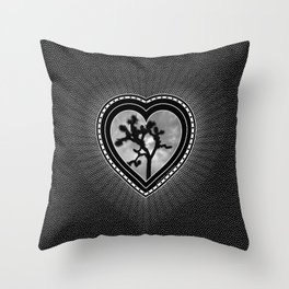 Joshua Tree Heart of the Hi-Desert by CREYES Throw Pillow