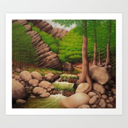 Craig Creek Cliff Art Print
