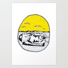 Sleeping man Art Print