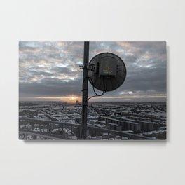 Sattelite Sunrise Metal Print