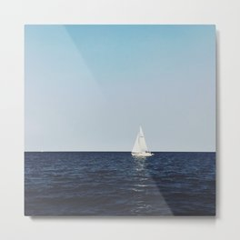 Sail Boat on Lake Superior Metal Print