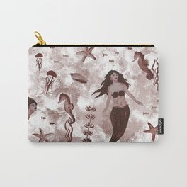 Under the Sea (Maroon) Part 1 Carry-All Pouch