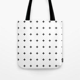Black Plus on White /// www.pencilmeinstationery.com Tote Bag