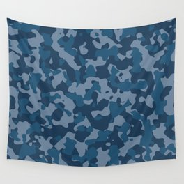 Camouflage Ocean Wall Tapestry