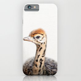 Baby Ostrich, Ostrich Chick, Baby Animals Art Print By Synplus iPhone Case