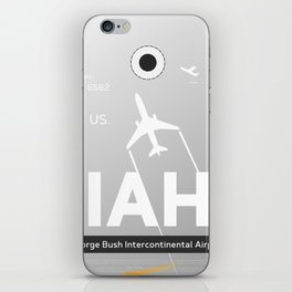 IAH HOUSTON TEXAS AIRPORT CODE iPhone Skin