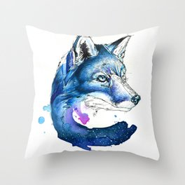 Celestial Fox Throw Pillow