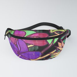 Tropical leaves and flowers, jungle print Fanny Pack